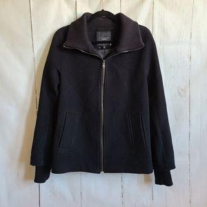 Talbots black wool bomber jacket size 10